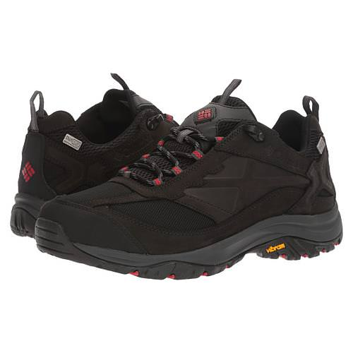 Columbia Terrebonne Outdry Mens Hiking Boot Black, Mountain Red BM4518 010
