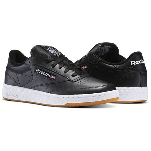 Reebok Club C 85 Black, White, Gum AR0458