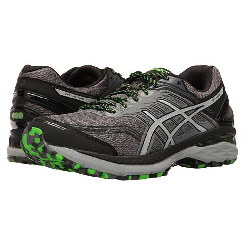 Asics GT-2000™ 5 Trail Men's Running Shoe Carbon, Mid Grey, Green Gecko T712N 9796