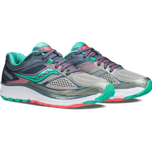 Saucony Guide 10 Women's Running Shoe Grey, Teal S10350-5