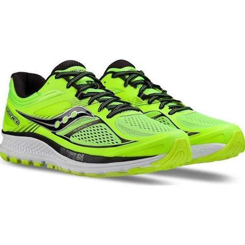 Saucony Guide 10 Men's Running Shoe Lime, Black, Citron S20350-3