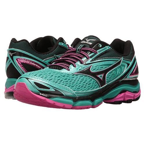 Mizuno Wave Inspire 13 Women's Running Shoes Turquoise, Electric, Black 410877 4F4U