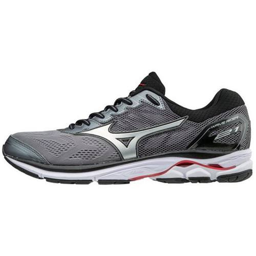 Mizuno Wave Rider 21 Men's Running Wide EE Quite Shade, Silver, Formula One 410973 9I73