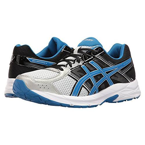 Asics Gel Contend 4 Men's Running Shoe Silver, Classic Blue, Black T715N 9342
