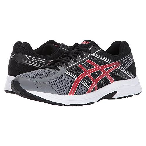 Asics Gel Contend 4 Men's Running Shoe Carbon, Classic Red, Black T715N 9723