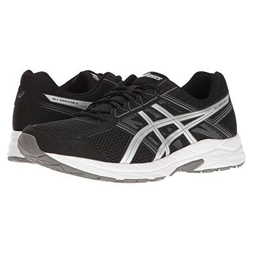 Asics Gel Contend 4 Men's Wide 4E Running Shoe Black, Silver, Carbon T716N 9093