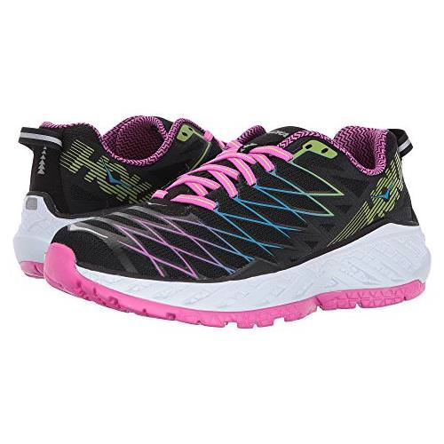 Hoka One One Clayton 2 Women's Black, Fuchsia, Green Glow 1014777 BFGG
