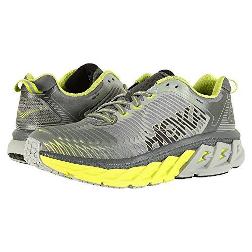 Hoka One One Arahi Men's Cool Gray, Acid, Black 1016258 CGAB