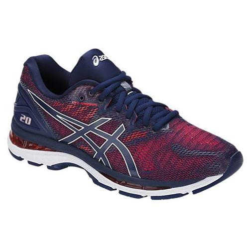 sics Gel Nimbus 20 Men's Running Shoe Indigo Blue, Indigo Blue, Fiery Red T800N 4949