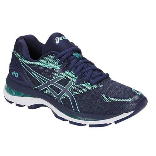 Asics Gel Nimbus 20 Men's Running Shoe Wide D Indigo Blue, Indigo Blue, Opal Green T851N 4949