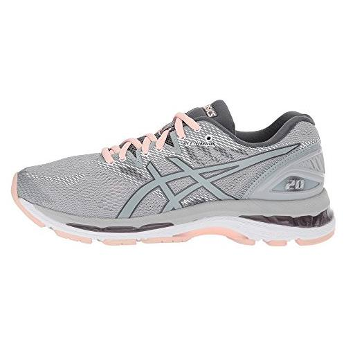 distorsión pintar Produce  Asics Gel Nimbus 20 Women's Running Shoe Mid Grey, Mid Grey, Seashell Pink T850N  9696