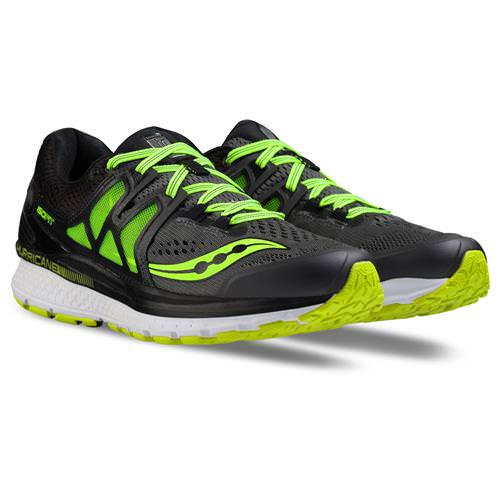 Saucony Hurricane ISO 3 Wide EE Men's Grey, Black, Citron S20349-1