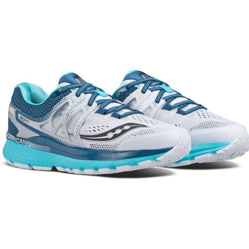 Saucony Hurricane ISO 3 Women's White, Teal S10348-4