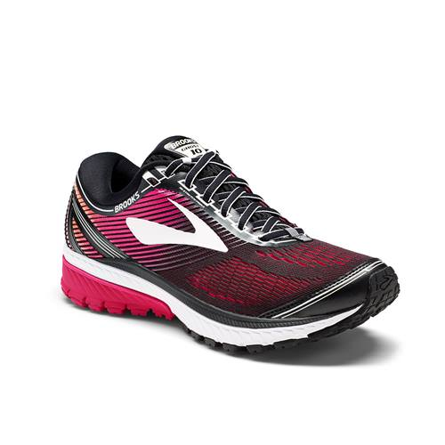 Brooks Ghost 10 Women's Running Wide D Black, Pink, Peacock, Living Coral 1202461D067
