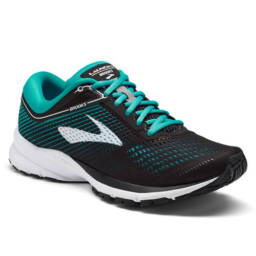 Brooks Launch 5 Women's Running Black, Teal Green, White 1202661B003