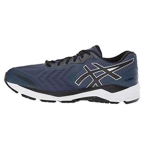 Asics Gel Foundation 13 Men's Wide 4E Running Shoe Dark Blue, Black, White T815N 4990