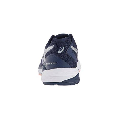 Asics Gel Foundation 13 Wide D Women's Running Shoe Indigo Blue, Silver, Seashell Pink T864N 4993