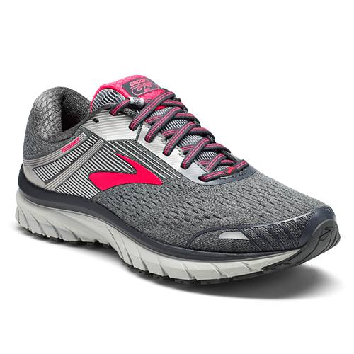 Brooks Adrenaline GTS 18 Women's Running Wide D Ebony, Silver, Pink 1202681D079