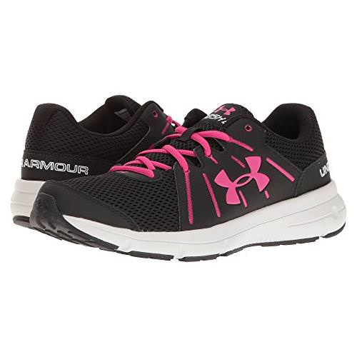 Under Armour Dash RN 2 Womens Running Shoe in Black, Glacier Gray, Tropic Pink 1285488-003