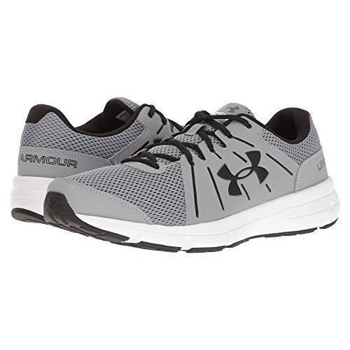 Under Armour Dash RN 2 Mens Running Shoe for Steel, Black, White 1285671-035