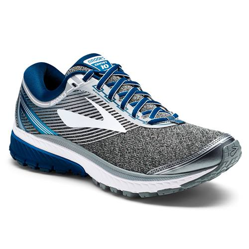 Brooks Ghost 10 Men's Running Silver, Blue, White 1102571D013