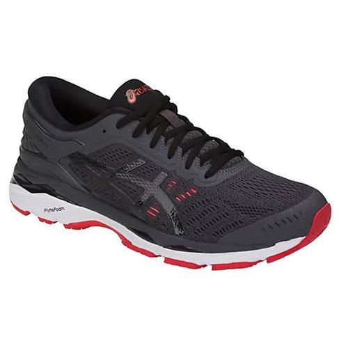 Asics Gel Kayano 24 Men's Running Shoe Dark Grey, Black, Red T749N 9590