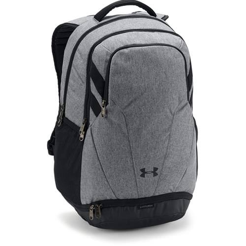 Under Armour Hustle 3.0 Backpack Graphite Medium Heather, Black 1306060- 040
