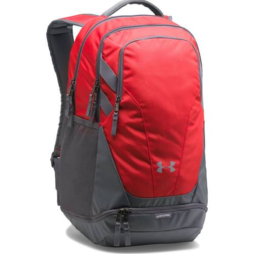 Under Armour Hustle 3.0 Backpack Red ,Graphite 1306060- 600