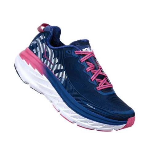 Hoka One One Bondi 5 Women's Blueprint, Surf The Web 1014759 BSTW