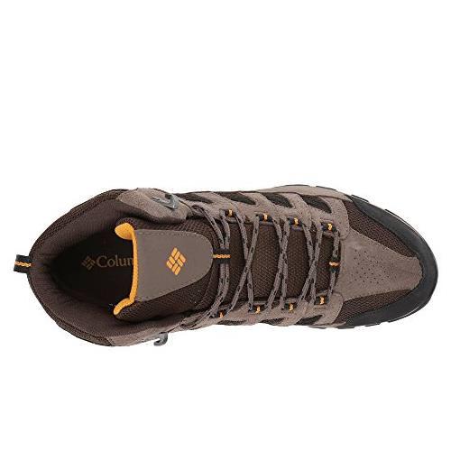 a5d0c85c085 Columbia Crestwood Mid Waterproof Mens Hiker Cordovan, Squash 1765381 231