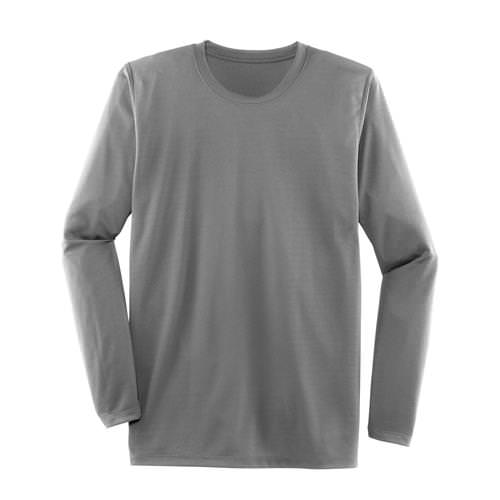 Brooks Mens Podium Long Sleeve Athletic Shirt in Light Gray 210956.072