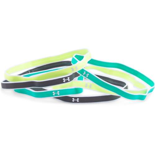 Under Armour Womens UA Mini Headband 6-Pack in Pale Moonlight, Absinthe Green, White 1286016-911