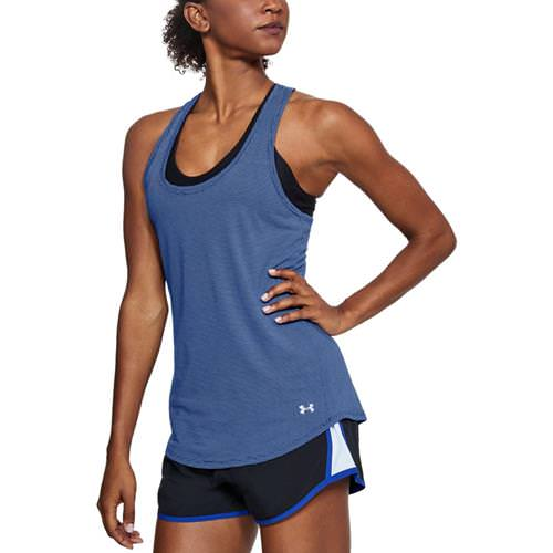 Under Armour Women's UA Streaker Running Tank Top Formation Blue, Chambray Blue 1271522-574