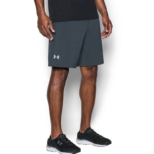"Under Armour Men's Speedpocket 9"" Running Shorts Stealth Gray 1297057-008"