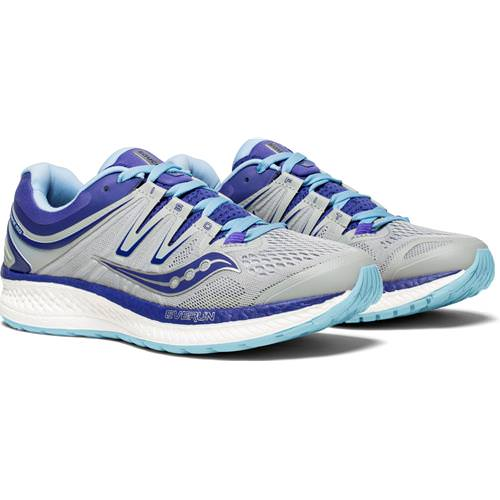 Saucony Hurricane ISO 4 Wide D Women's Grey, Blue, Purple S10412-1