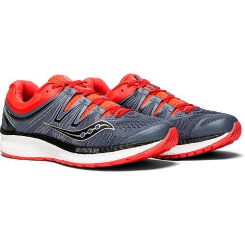 Saucony Hurricane ISO 4 Women's Grey, Black, ViZi Red S10411-2