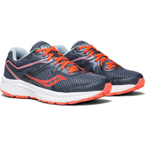 Saucony Cohesion 11 Women's Running Grey, ViZi Red S10420-2