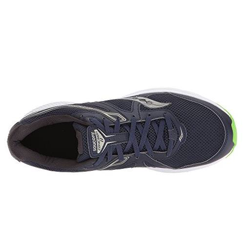 Saucony Cohesion 11 Men's Running Shoe Wide EE Navy, Slime S20421 1