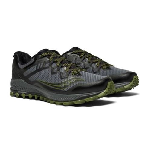 Saucony Peregrine 8 Men's Trail Grey, Black, Green S20424-1