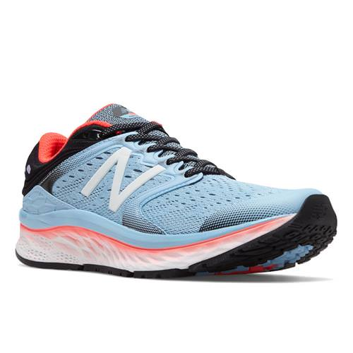 New Balance Fresh Foam 1080v8 Women's Running Shoe Clear Sky, Vivid Coral, Black W1080CS8