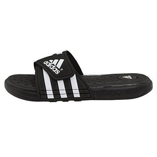 half off bb818 24486 Adidas Adissage Cloudfoam Slides Mens in Black, White G19102. Additional  Photos (click to enlarge)