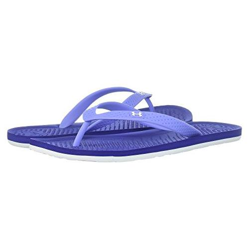 Under Armour Atlantic Dune Women's Flip-Flops in Formation Blue, Metallica Victory Cloud 1252540-500
