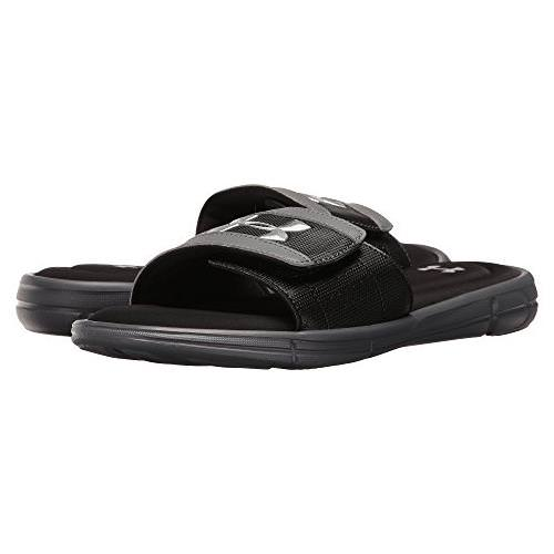 Under Armour UA Ignite V Men's Slides in Graphite, Black 1287318-040