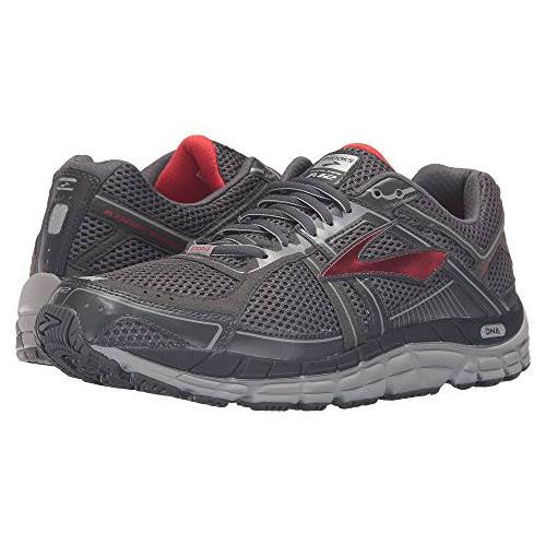 Brooks Addiction 12 Men's Running Anthracite, High Risk Red, silver 1101961D095